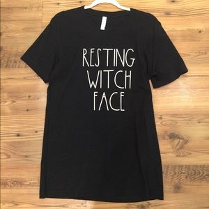 """""""Resting Witch Face"""" Tee"""